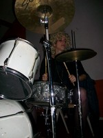 Marylin at the Drums