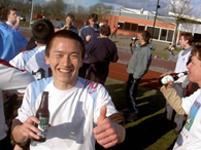 Matchwinner Wei (China Soccer) viert toernooizege